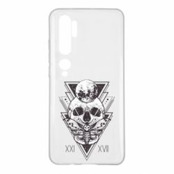 Чохол для Xiaomi Mi Note 10 Skull with insect