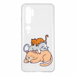 Чехол для Xiaomi Mi Note 10 Sleeping cats