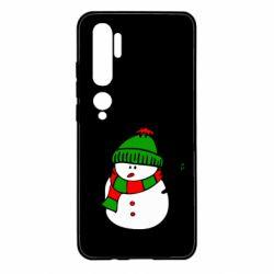 Чехол для Xiaomi Mi Note 10 Снеговик