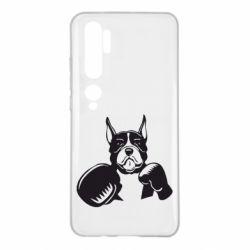 Чехол для Xiaomi Mi Note 10 Собака в боксерских перчатках