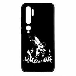 Чехол для Xiaomi Mi Note 10 Soldier on fire