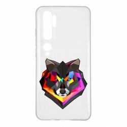 Чехол для Xiaomi Mi Note 10 Сolorful wolf