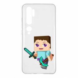Чехол для Xiaomi Mi Note 10 Steve minecraft