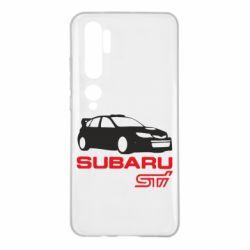 Чехол для Xiaomi Mi Note 10 Subaru STI