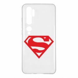 Чехол для Xiaomi Mi Note 10 Superman одноцветный