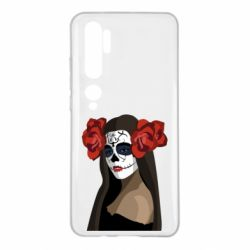 Чехол для Xiaomi Mi Note 10 The girl in the image of the day of the dead