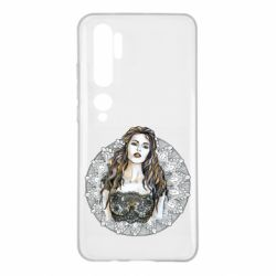 Чехол для Xiaomi Mi Note 10 The girl on the background of lace