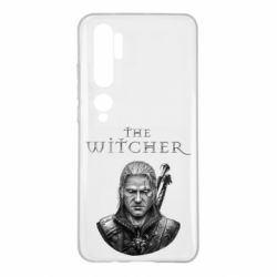 Чехол для Xiaomi Mi Note 10 The witcher art black and gray