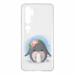 Чехол для Xiaomi Mi Note 10 Two cute penguins