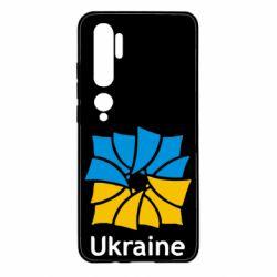 Чехол для Xiaomi Mi Note 10 Ukraine квадратний прапор