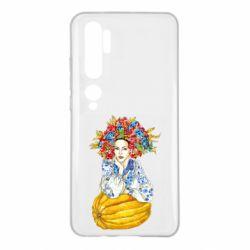 Чохол для Xiaomi Mi Note 10 Українка в вінку і вишиванці