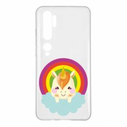 Чехол для Xiaomi Mi Note 10 Unicorn and cloud