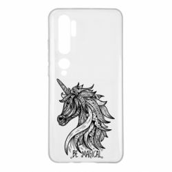Чехол для Xiaomi Mi Note 10 Unicorn and text