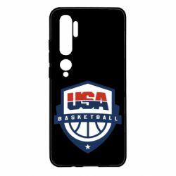 Чехол для Xiaomi Mi Note 10 USA basketball