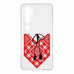 Чехол для Xiaomi Mi Note 10 Вишиванка з зав'язкою