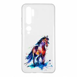 Чехол для Xiaomi Mi Note 10 Watercolor horse