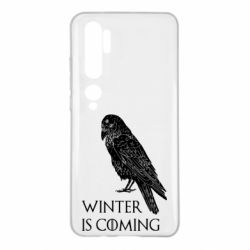 Чохол для Xiaomi Mi Note 10 Winter is approaching and crow