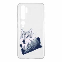 Чехол для Xiaomi Mi Note 10 Wolf and forest