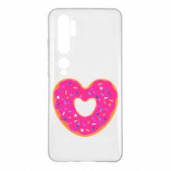 Чехол для Xiaomi Mi Note 10 Я люблю пончик