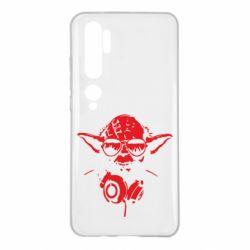 Чехол для Xiaomi Mi Note 10 Yoda в наушниках
