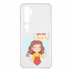 Чехол для Xiaomi Mi Note 10 You are super girl