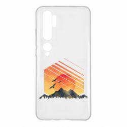 Чохол для Xiaomi Mi Note 10 Захід Геометрія