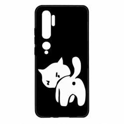 Чехол для Xiaomi Mi Note 10 злой котэ