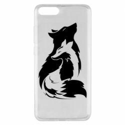 Чехол для Xiaomi Mi Note 3 Wolf And Fox