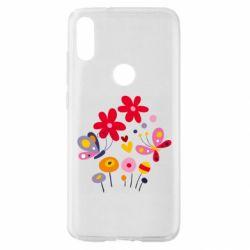 Чехол для Xiaomi Mi Play Flowers and Butterflies