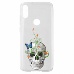 Чехол для Xiaomi Mi Play Skull and green flower