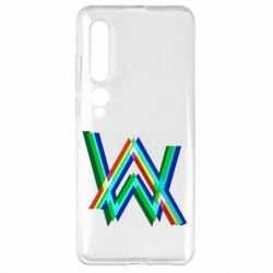 Чехол для Xiaomi Mi10/10 Pro Alan Walker multicolored logo