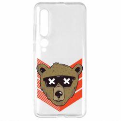 Чехол для Xiaomi Mi10/10 Pro Bear with glasses