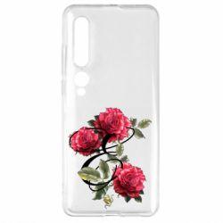 Чехол для Xiaomi Mi10/10 Pro Буква Е с розами