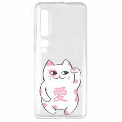 Чехол для Xiaomi Mi10/10 Pro Cat and hieroglyphs