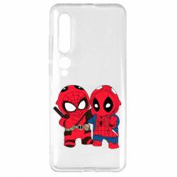 Чехол для Xiaomi Mi10/10 Pro Дэдпул и Человек паук