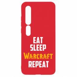 Чехол для Xiaomi Mi10/10 Pro Eat sleep Warcraft repeat