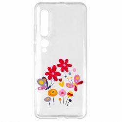 Чехол для Xiaomi Mi10/10 Pro Flowers and Butterflies