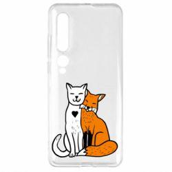 Чехол для Xiaomi Mi10/10 Pro Fox and cat heart