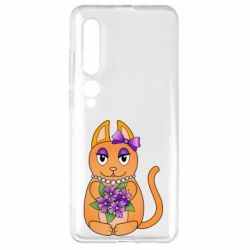 Чехол для Xiaomi Mi10/10 Pro Girl cat with flowers