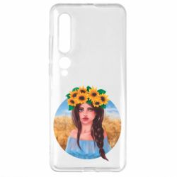 Чехол для Xiaomi Mi10/10 Pro Girl in a wreath of sunflowers