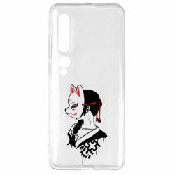 Чехол для Xiaomi Mi10/10 Pro Girl with kitsune mask