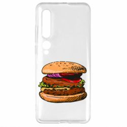Чехол для Xiaomi Mi10/10 Pro Hamburger hand drawn vector