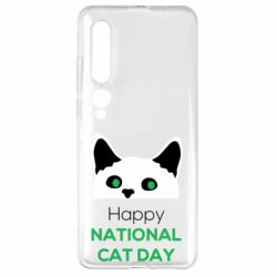 Чехол для Xiaomi Mi10/10 Pro Happy National Cat Day