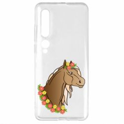 Чехол для Xiaomi Mi10/10 Pro Horse and flowers art