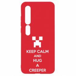 Чехол для Xiaomi Mi10/10 Pro KEEP CALM and HUG A CREEPER