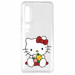 Чехол для Xiaomi Mi10/10 Pro Kitty с букетиком