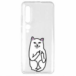 Чехол для Xiaomi Mi10/10 Pro Кот с факом