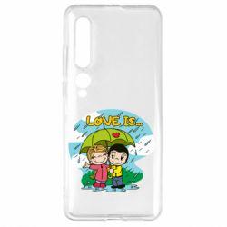 Чехол для Xiaomi Mi10/10 Pro Love is ... in the rain