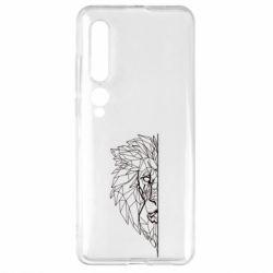 Чехол для Xiaomi Mi10/10 Pro Low poly lion head