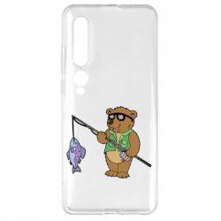 Чехол для Xiaomi Mi10/10 Pro Ведмідь ловить рибу